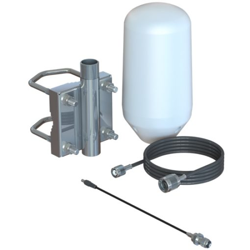 Iridium Passive Antenna Kit with Pole Mount and GO! Antenna Adapter